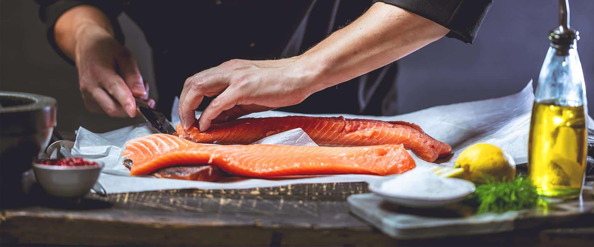 Salmon knife knife sales Rottner