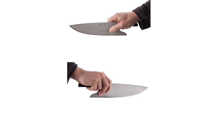 Güde THE KNIFE Fasseiche Richtige Griffhaltung
