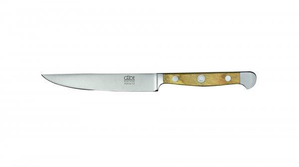 Güde Alpha Olive Porterhouse Steakmesser Solingen Seitenansicht
