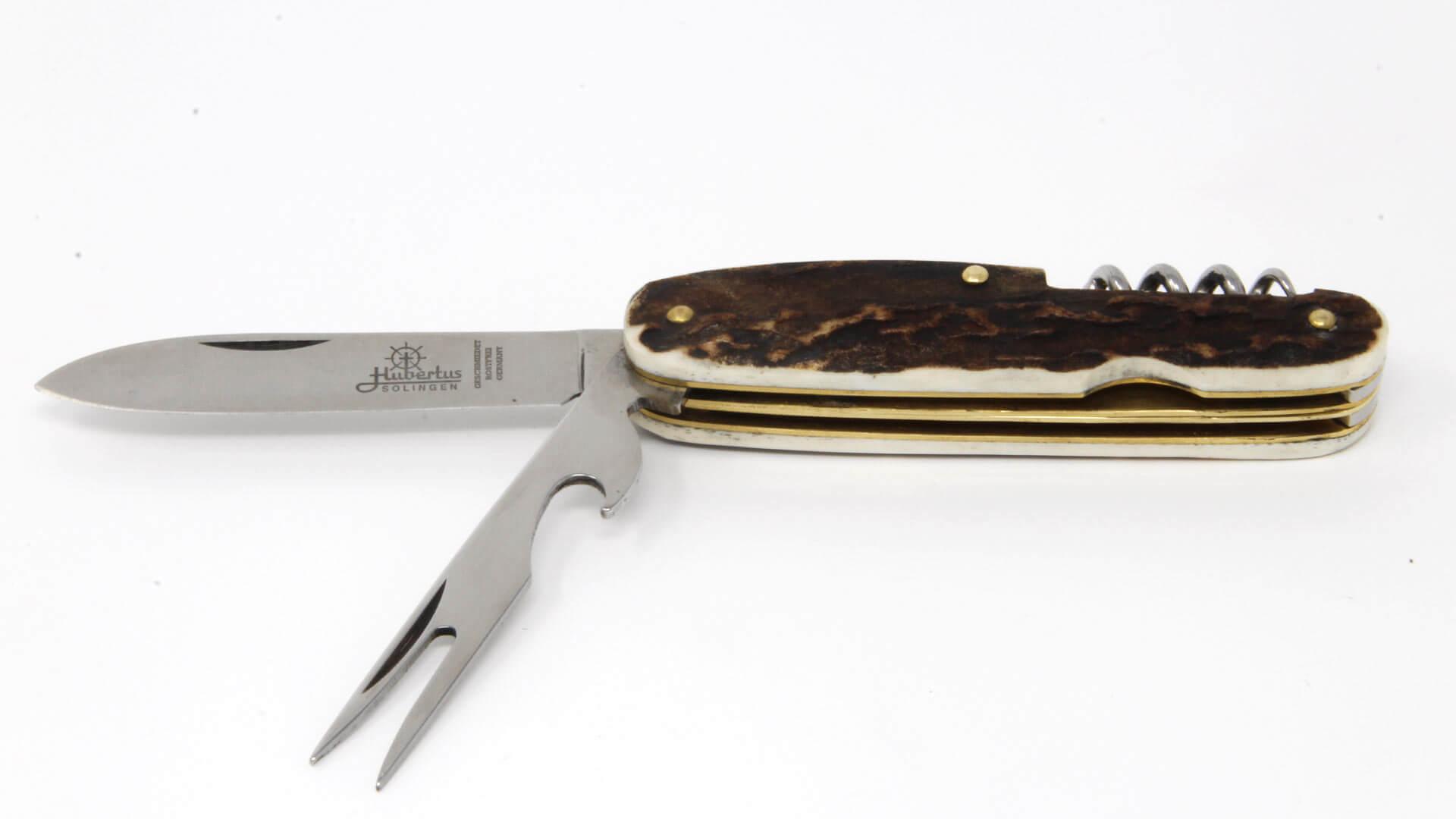 Hubertus Bestecktaschenmesser aufgeklappt