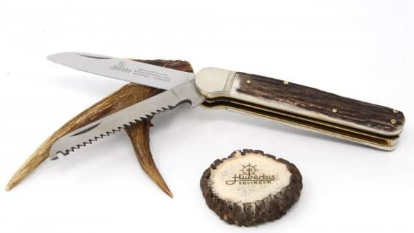 Hubertus Series 13 Solingen hunting pocket knife with Solingen saw