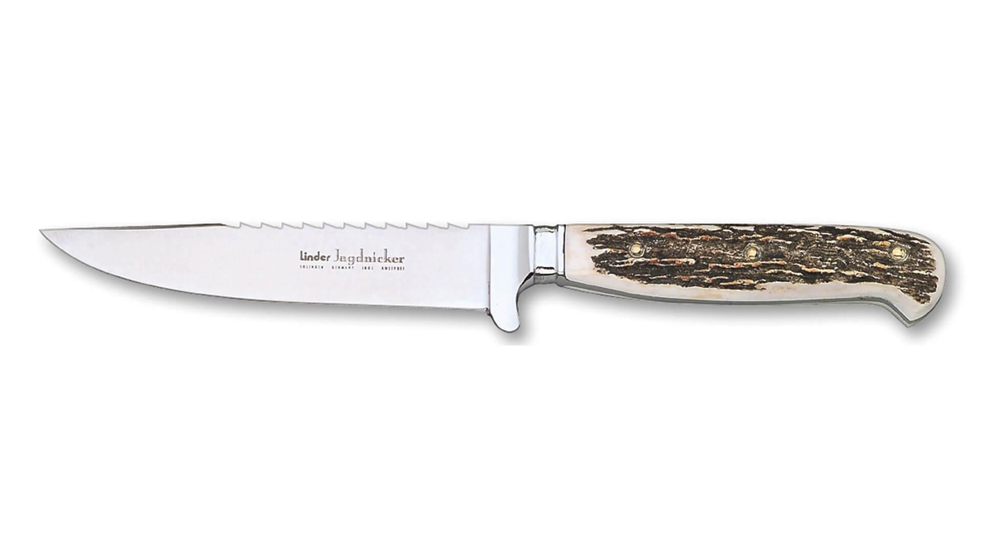 linder-jagdnicker-saege-jagdmesser-hirschhorn-solingen
